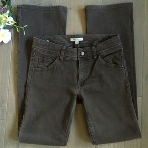 CAbi Faded Gray Wide Leg Jeans Size 6